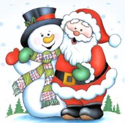 Sneeuwpop en Kerstman