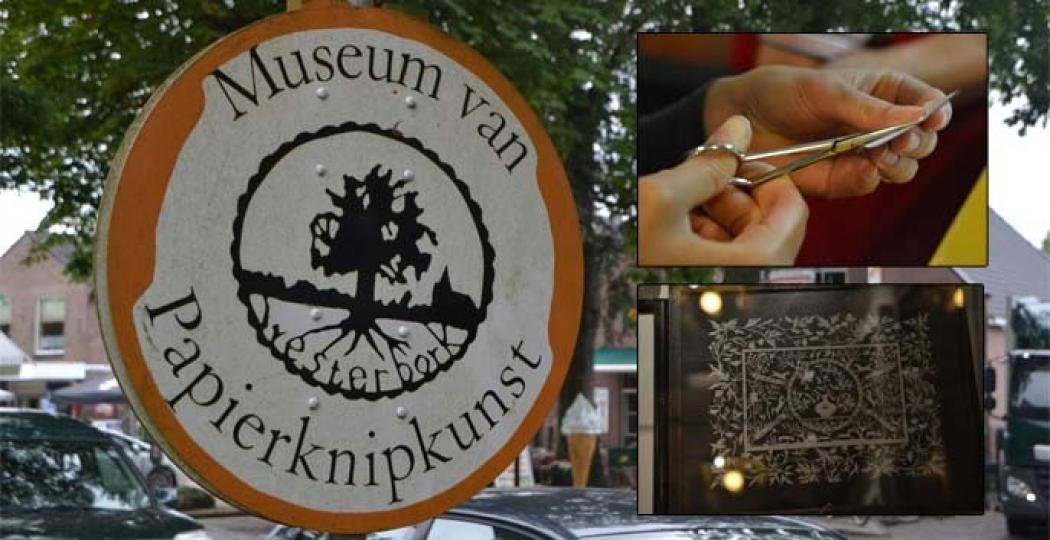 In Westerbork zit het kleine Museum voor de Papierknipkunst verstopt. Een verrassend museum om even binnen te lopen! Foto: DagjeWeg.NL