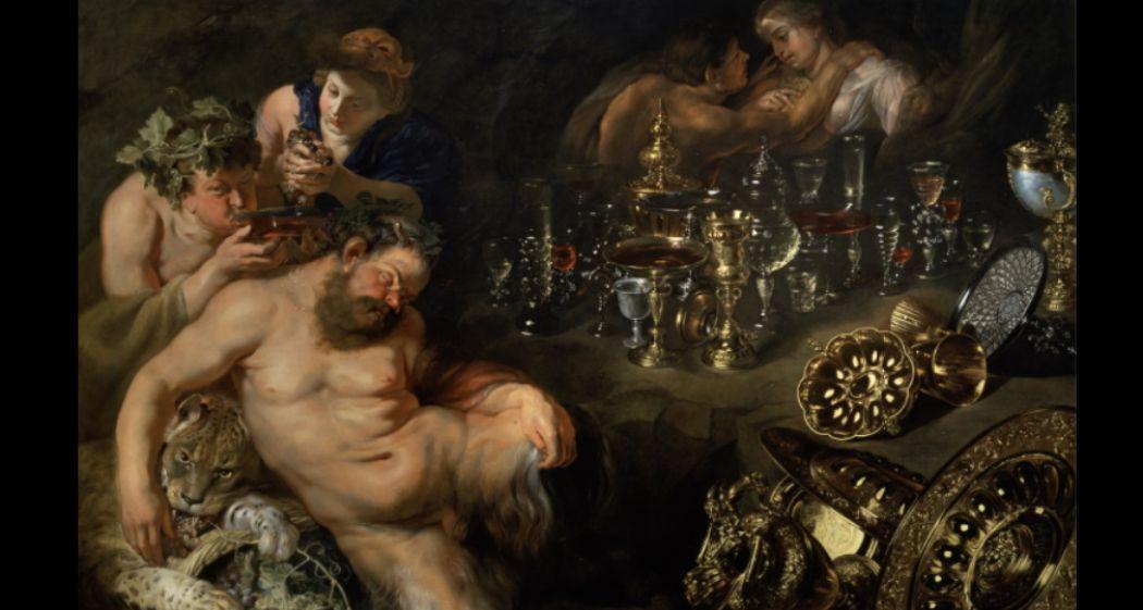 Peter Paul Rubens,  Bacchanaal met de dronken silenus , ca. 1611-1615, olieverf op doek. Foto: Gemäldegalerie der Akademie der bildenden Künste