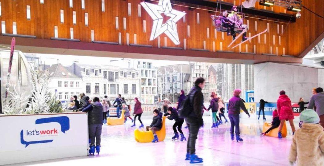 Toon je schaatskunsten op de schaatsbaan. Foto: Gentse Winterfeesten