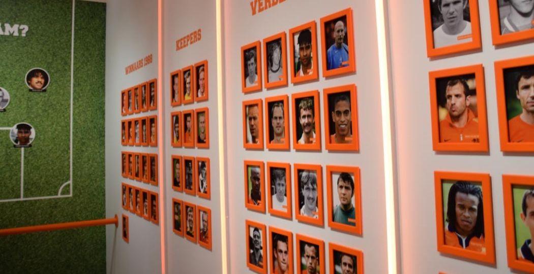 De hall of fame onder de Nederlandse voetballers. Foto: redactie DagjeWeg.NL