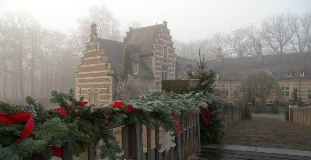 Romantische kerstdecoratie bij Kasteel Heeswijk. Foto: Kasteel Heeswijk