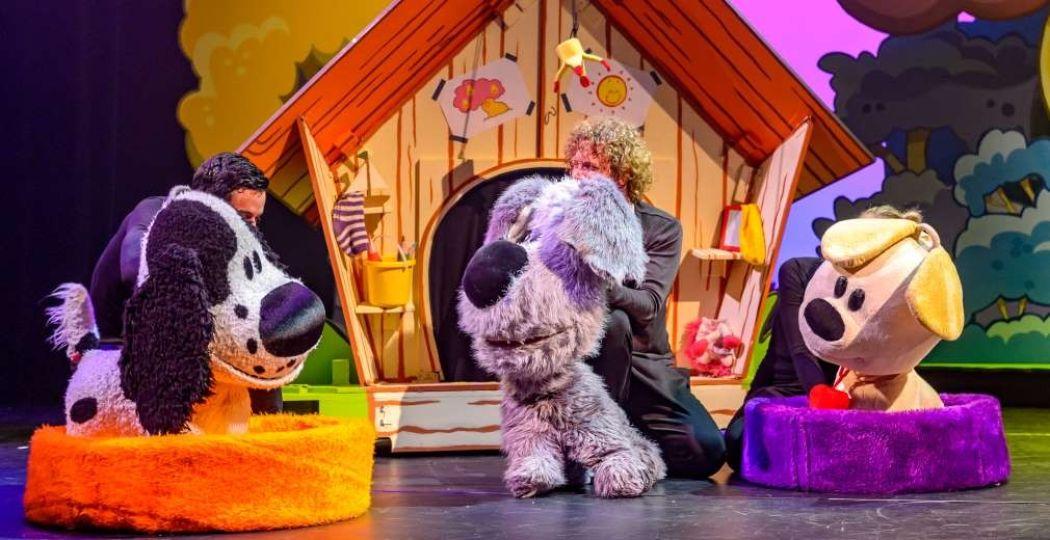 Neefje Charlie, Woezel en Pip hebben de grootste lol met elkaar. Foto: Van Hoorne Entertainment.
