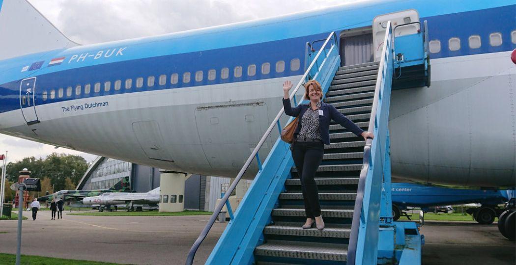 In stijl de Boeing 747 Jumbo Jet verlaten. Foto: DagjeWeg.NL