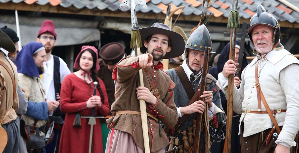 Waan je tijdens de Maand van de Geschiedenis in de zestiende eeuw in het preHistorisch Dorp Eindhoven. Foto: preHistorisch Dorp