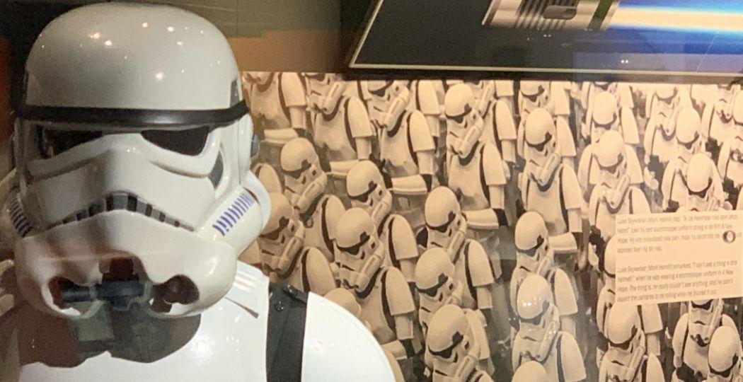 Sta oog in oog met een Stormtrooper. Foto: Space Expo.