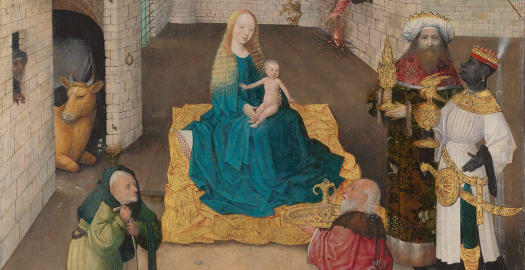 Deel van De Aanbidding der Koningen. Jheronimus Bosch. Ca. 1475, 71.1 x 56.5cm, The Metropolitan Museum of Art / John Stewart Kennedy Fund, New York. Foto: Het Noordbrabants Museum.