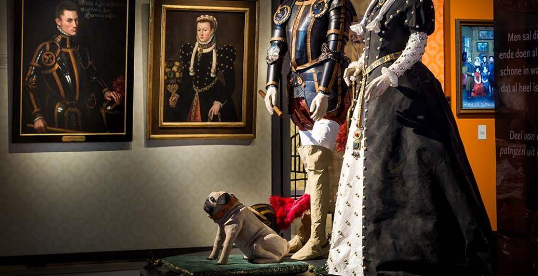 Volg mopshondje Pompey en ga op avontuur door de tentoonstelling Willem. Foto: Nationaal Militair Museum © Anne Reitsma.