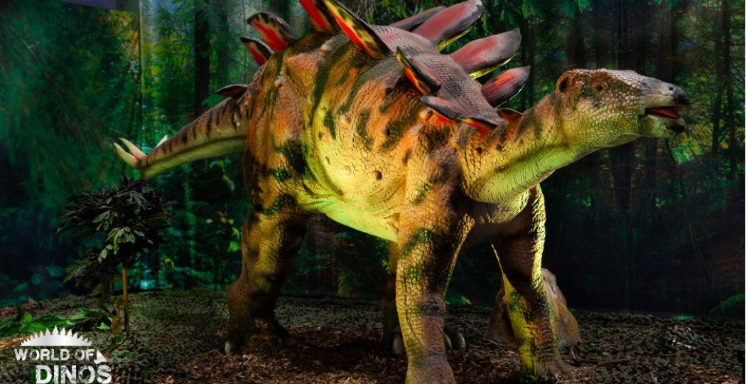 In World of Dinos kom je onder meer deze dino tegen. Foto: World of Dinos