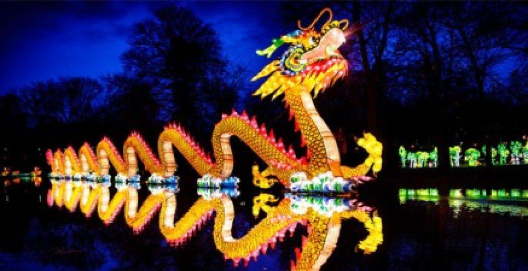 De eyecatcher van het festival: de grote Chinese draak. Foto: Chris Dagelet