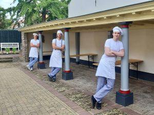 Bakker Martijn aan het werk. Foto: Nederlands Bakkerijmuseum