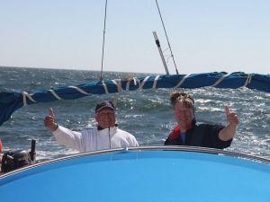 Hartstikke leuk, een dagje zeilen. Foto: Co-Sailing