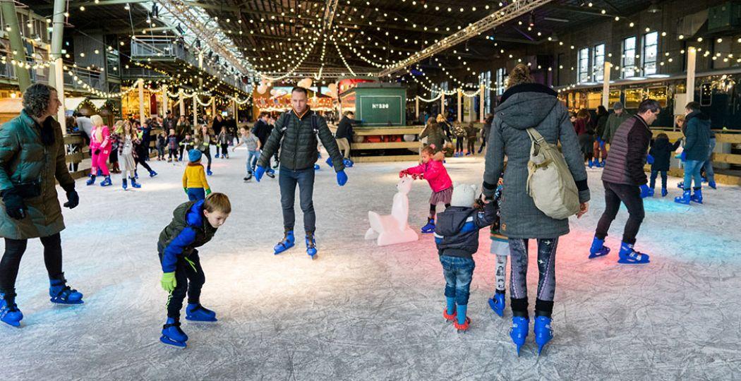 Kom ook schaatsen tussen de treinen, tijdens Winter Station in het Spoorwegmuseum. Foto: Het Spoorwegmuseum © Jessie Kamp.