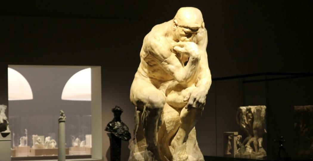 'De Denker' heeft een prominente plek gekregen op de tentoonstelling. Foto: DagjeWeg.NL
