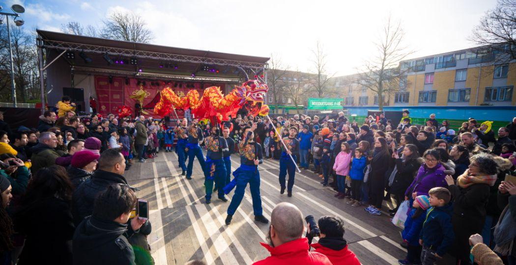 Vier het Chinees Nieuwjaar in Rotterdam. Foto: RCNY © Evert Buitendijk.