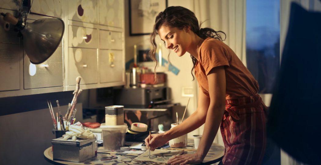 Ga thuis aan de slag met een online workshop. Foto:  Pexels.com