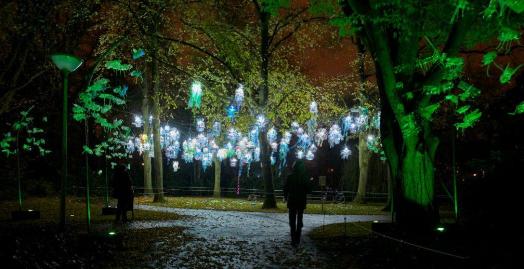 Raak betoverd door de wonderlijke wereld van lichtkunst. Foto: Claus Langer, GLOW Eindhoven 2015.