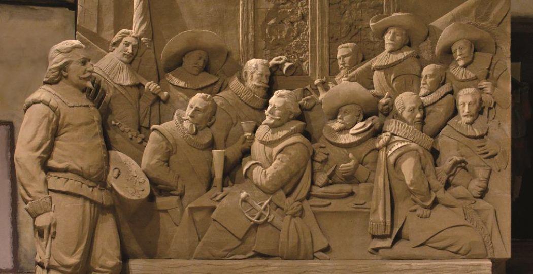 Herken jij de Hollandse meester van dit werk? Foto: 't Veluws Zandsculpturenfestijn
