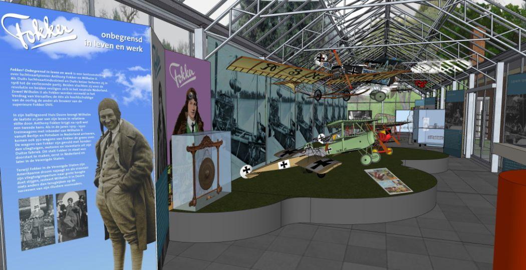 Huis Doorn wijdt een tentoonstelling aan vliegtuigpionier Anthony Fokker. Foto: Huis Doorn.