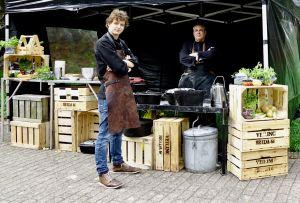 Koken op een fort
