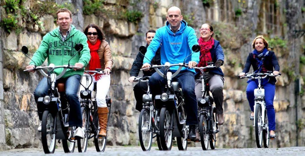 Een fiets, Solex of e-bike van Cycle Center brengt je langs mooie plekken in en rondom Maastricht.  Foto: Cycle Center