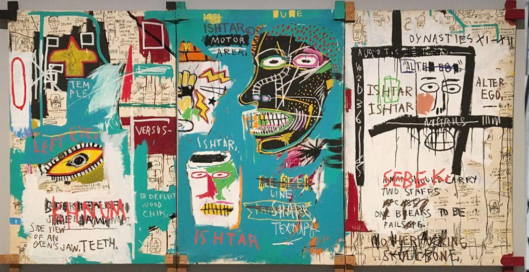 Het werk Ishtar (1983) van Jean Michel Basquiat. Foto: Eigendom van de Akense Ludwig Forum für Internationale Kunst