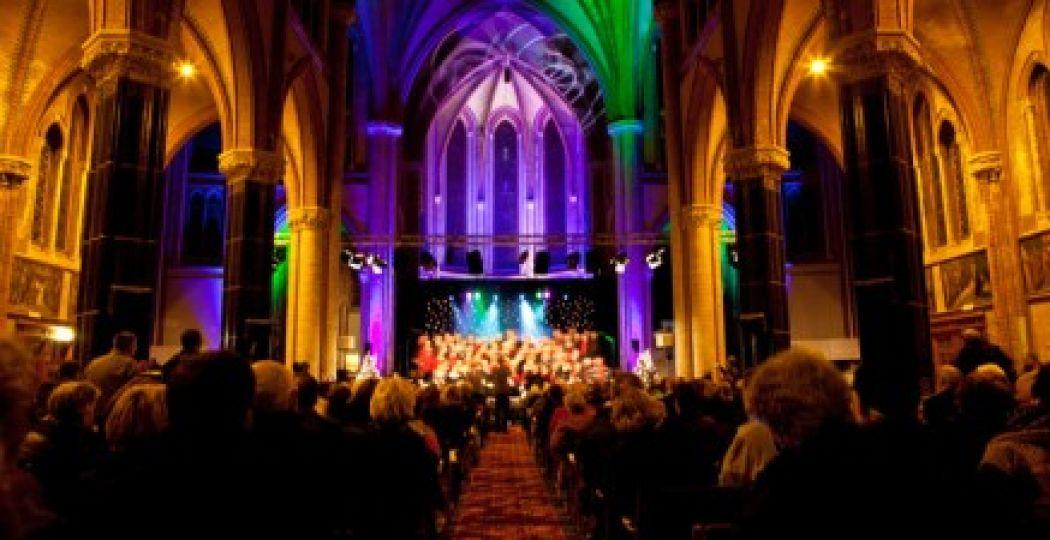 Overal in Gouda zijn gratis optredens te bezoeken, zoals in deze kerk. Foto: Hedwig Schipperheijn.