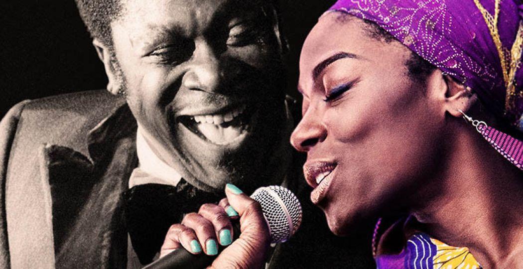 Zangeres Giovanca samen met blueslegende B.B. King. Foto Giovanca: Cees Beumer. Foto B.B. King: Getty Images.