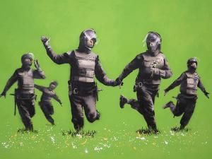 Banksy: Four Monkeys (2001). Foto: Moco Museum.