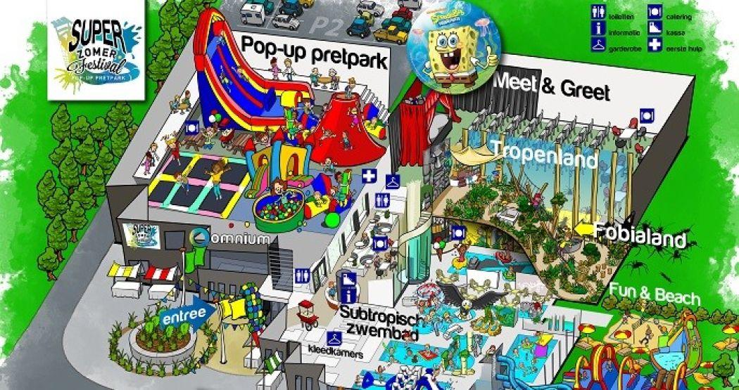 De hele zomervakantie te bezoeken: het pop-up Zomer Festival. Foto: Omnium