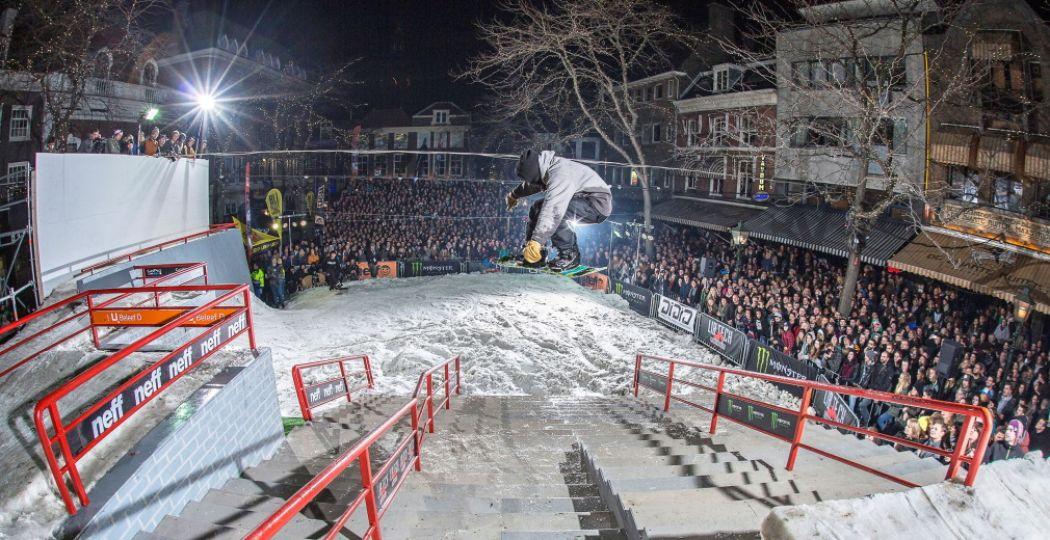 Op Rock-A-Rail zie je spectaculaire snowboardtricks die je versteld doen staan. Foto: Michiel Rotgans.