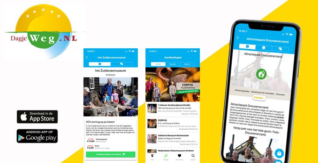 Download de vernieuwde DagjeWeg.NL App!