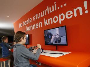 Test je vaarskills op de vaarsimulator. Foto: Reddingmuseum Dorus Rijkers.