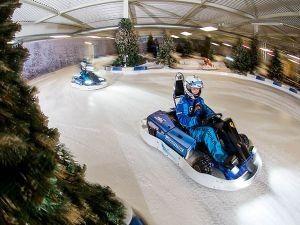 Race door een winterlandschap. Foto: IceKart Rucphen.