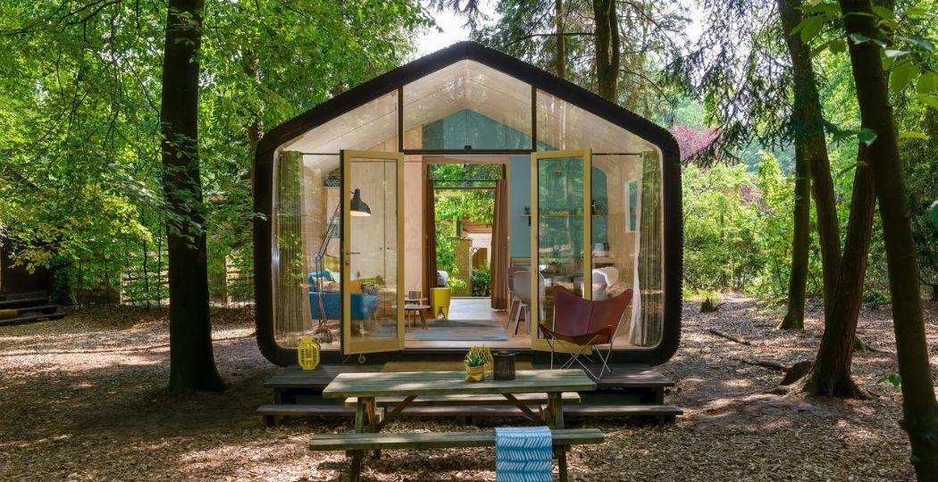 Romantisch en avontuurlijk, een Wikkelhouse van Stayokay Apeldoorn. Foto: Taco van der Werf