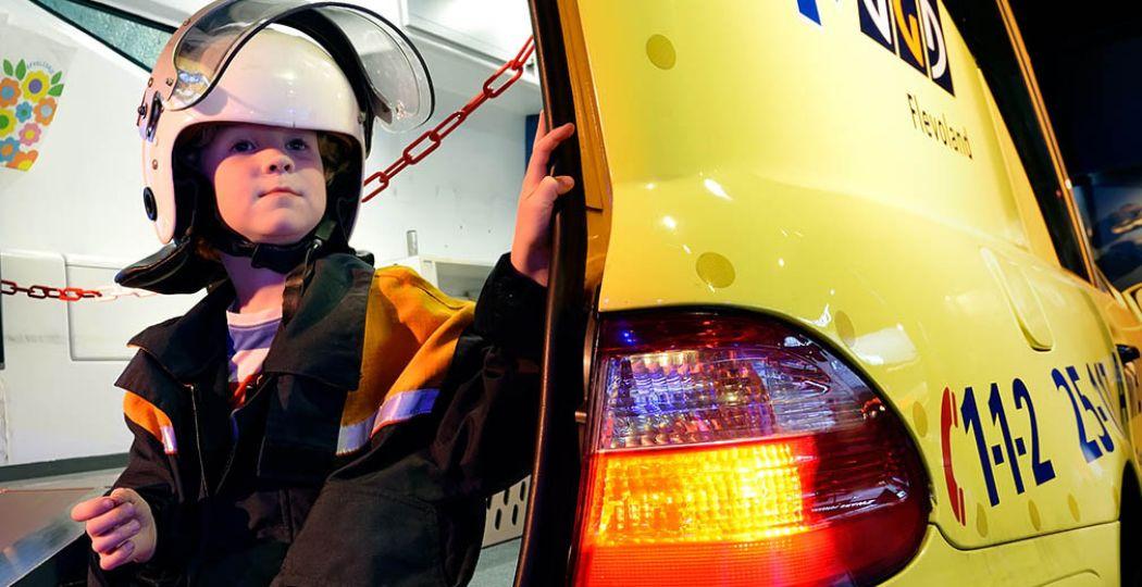Ontdek alles over de wereld van brandweer, ambulance en politie in PIT! Foto: Veiligheidsmuseum PIT.