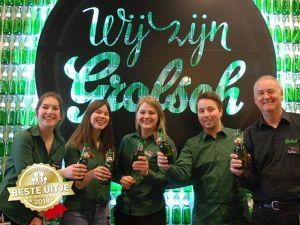 Volg het brouwproces van Grolsch. Foto: Grolsch