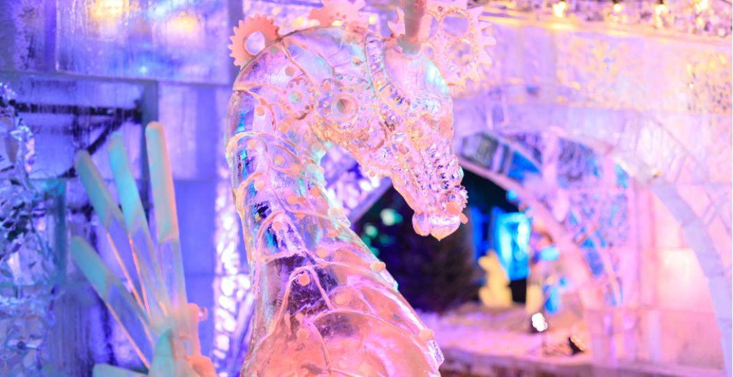 De sprookjeachtige wereld van de IJssculpturen Expositie Frozen Magic. Foto: Casper van Dort