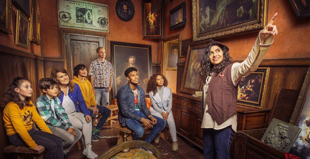 Duik in het Amsterdamse leven van kunstschilder Rembrandt van Rijn aan het Leidseplein. Foto: Rembrandts Amsterdam Experience  © Kris Van de Sande