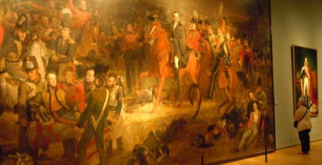 Het grootste schilderij in het Rijksmuseum: De Slag bij Waterloo door Jan Willem Pieneman