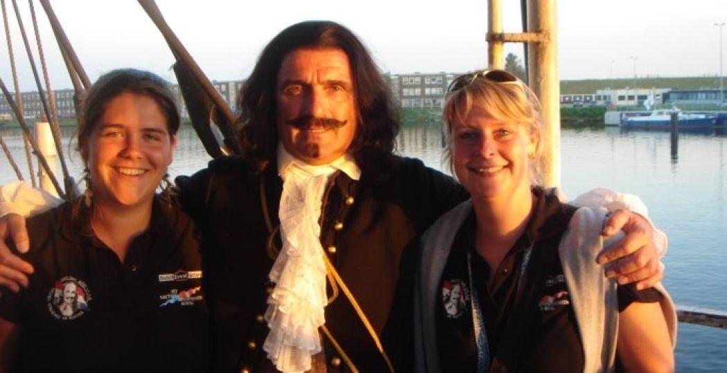 Meet and greet met Michiel de Ruyter. Foto: Vlissingen Maritiem Facebookpagina