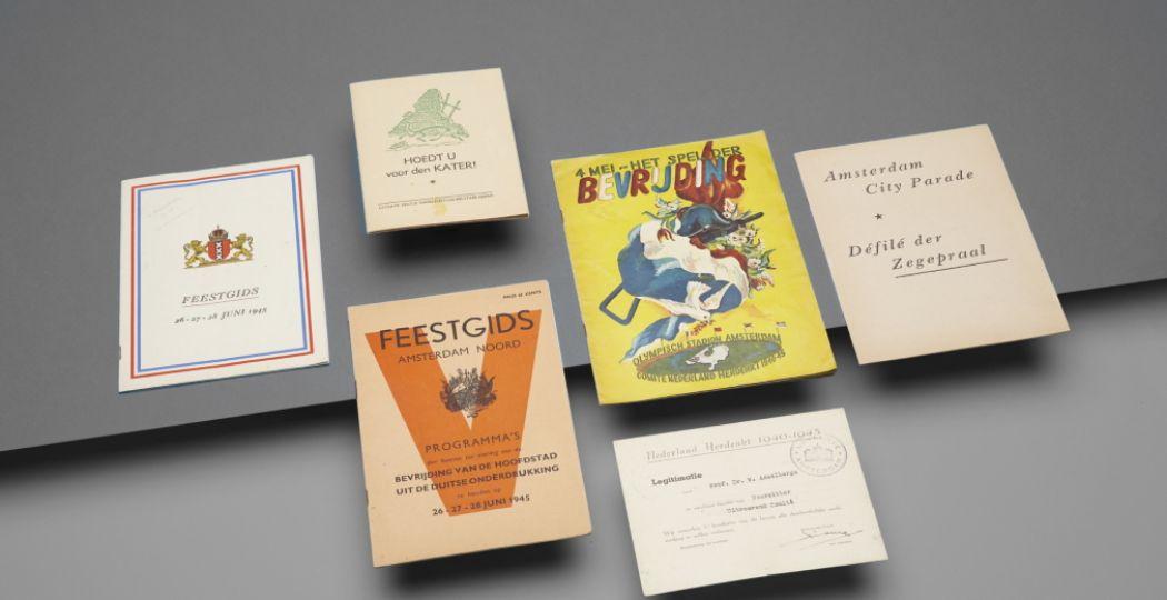 Het Literatuurmuseum lanceert de online tentoonstelling De achterkant van de bevrijding - Literair leven na de oorlog. Foto: Michiel Spijkers, Collectie Literatuurmuseum.