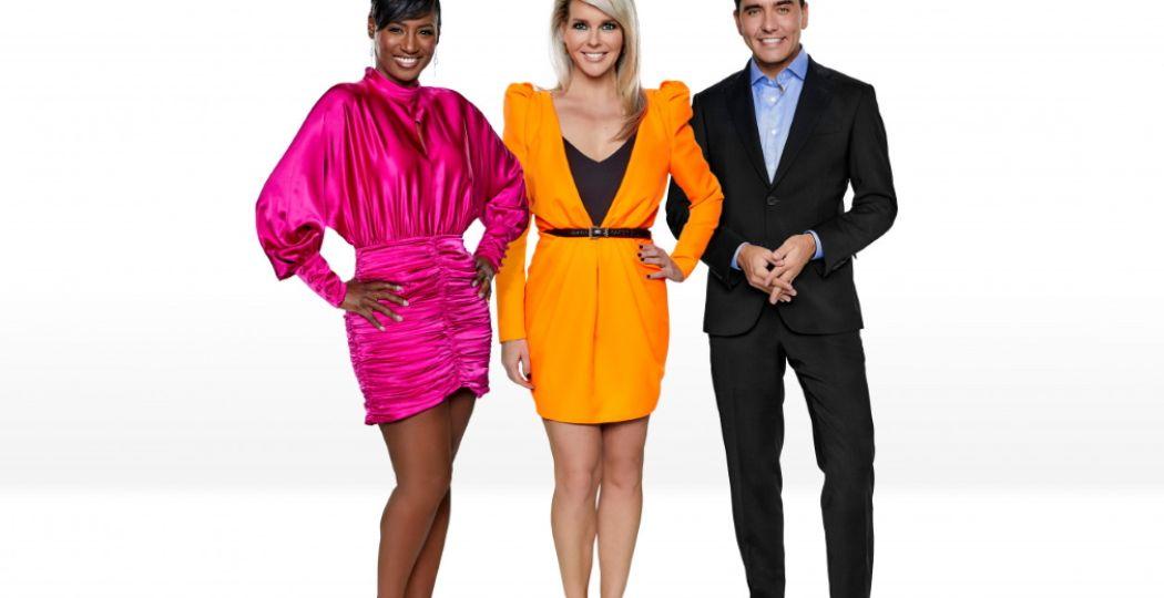 Edsilia Rombley, Chantal Janzen en Jan Smit. De presentatoren van Eurovision: Europe Shine a Light. Foto: EBU/NPO/AVROTROS/NOS.