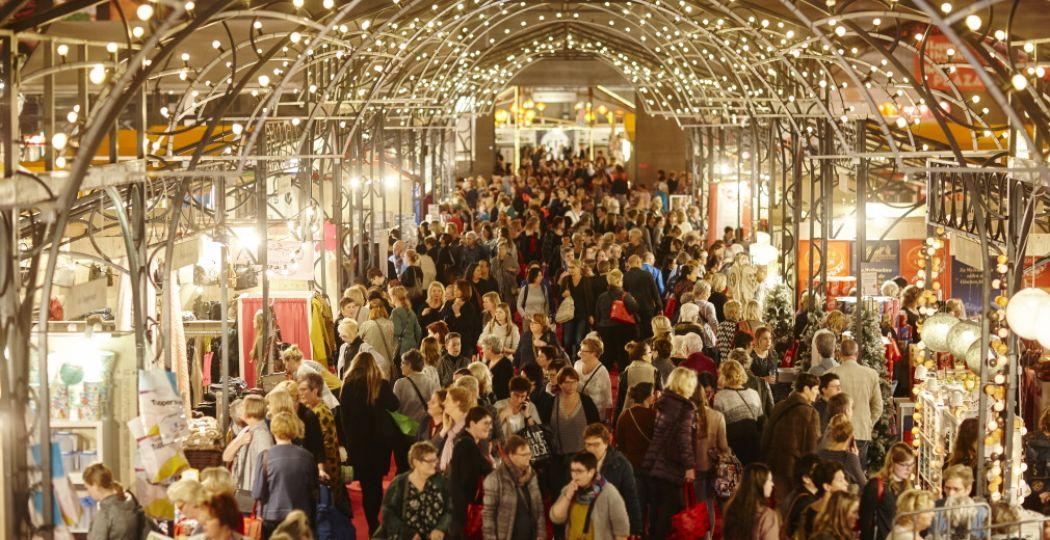 Non-stop shoppen en samen in de feeststemming komen op de Margriet Winterfair. Foto: Sanoma SBS Events.