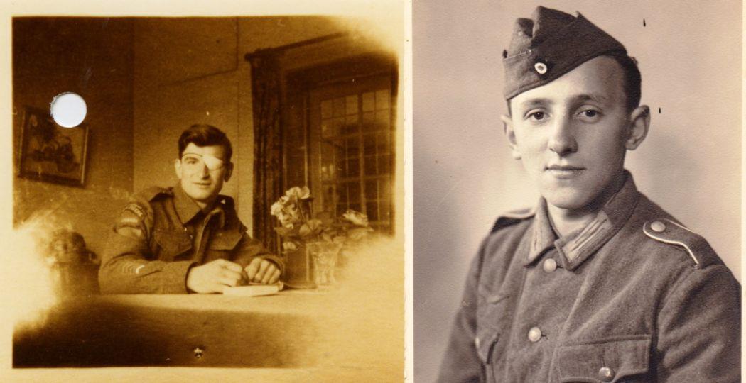 Links: Canadese militair Léo Major. Rechts: Duitse militair Hans Kürten. Foto: Nationaal Militair Museum.