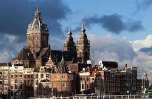In het centrum van Amsterdam