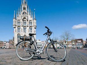 Spring op de fiets. Foto: Keck.