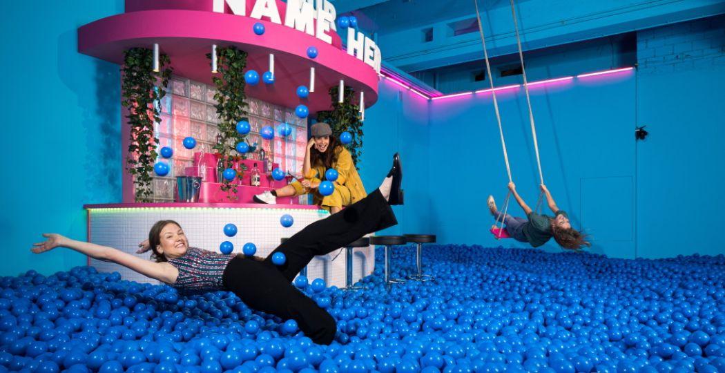 Een Instagramwalhalla en kunstige speeltuin voor volwassenen en jongeren: Youseum! Foto: Youseum.