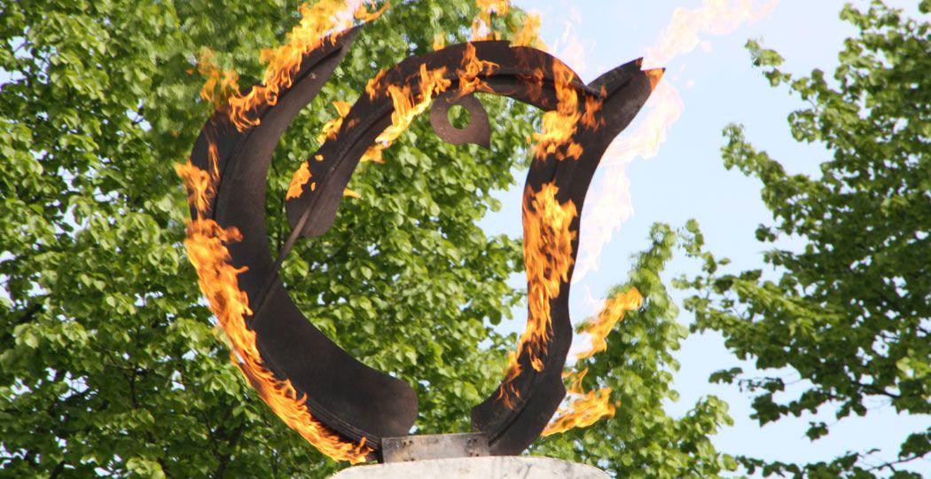 Op 5 mei wordt ook in Wageningen het Vrijheidsvuur ontstoken. Foto: Joppe Boon