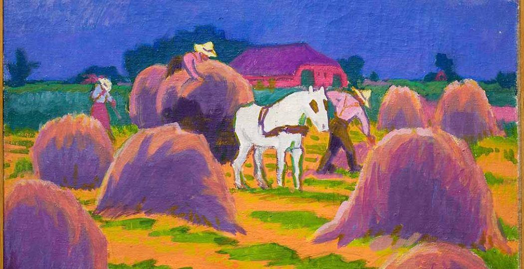 Jan Altink, Het witte paard, 1925, was/olieverf op doek, 61,5 x 70 cm Collectie Stichting De Ploeg, bruikleen Groninger Museum. Foto: Groninger Museum.